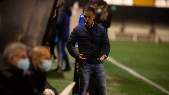 Borja Jiménez, en el partido contra el Rayo Vallecano