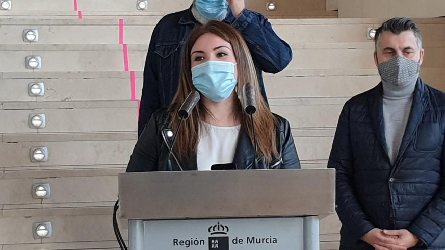 Esperanza Moreno este martes en un acto