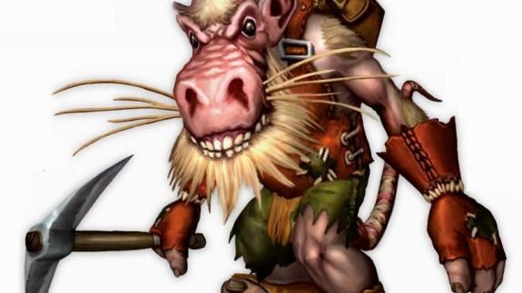 Un kobold según la página World of Warcraft