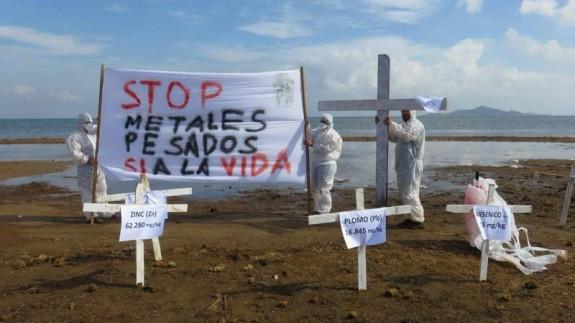 Protesta limpieza de la Rambla de Mendoza. ORM