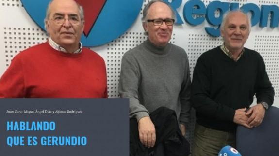 Los profesores Juan Cano, Miguel Ángel Díaz y Alfonso Rodríguez