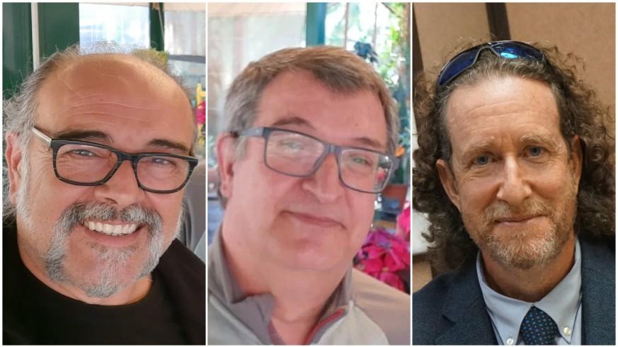 Antonio Saura, Pedro Quílez y Jerónimo Tristante