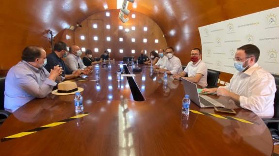 Reunión para la creación del Comité de seguimiento. Foto: Ayuntamiento de Lorca