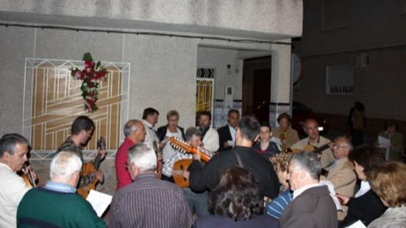 Canto de los Mayos en la pedanía murciana de Guadalupe. Foto: Tomás García