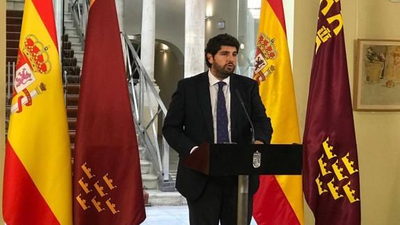 López Miras durante su intervención