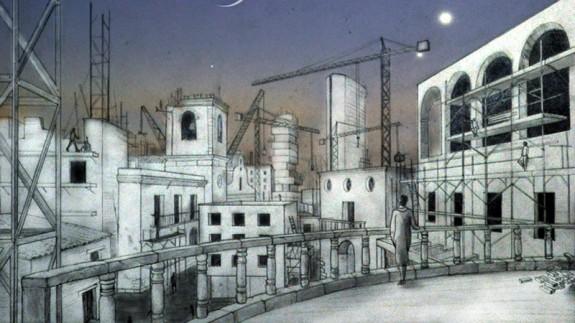 Representación de la ciudad de Tecla de Italo Calvino