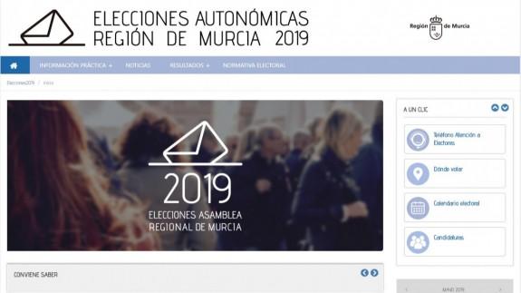 La Comunidad pone en marcha un portal para informar a los ciudadanos sobre las elecciones autonómicas