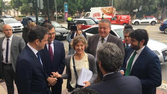 Tejerina, a su llegada al Foro Futuro en Español