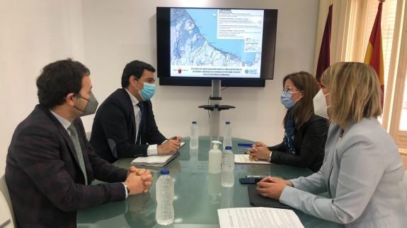 Reunión entre Comunidad y Ayuntamiento de Cartagena para presentar las conclusiones del estudio de la UPCT. CARM