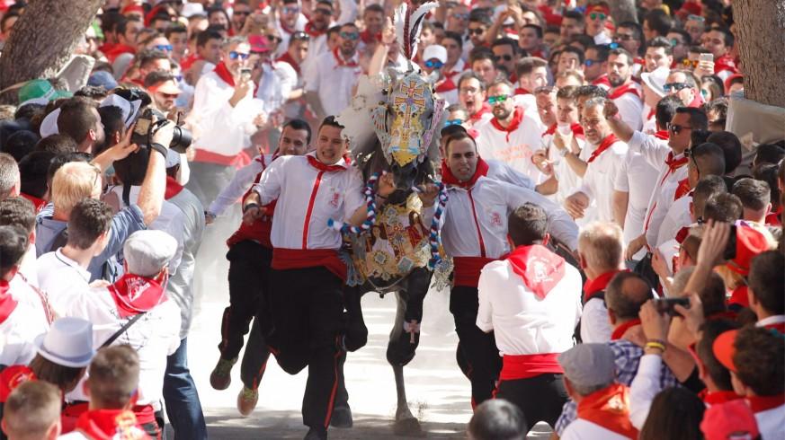 Imagen de archivo de la carrera de los Caballos del Vino