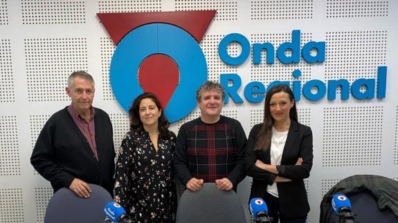 Miguel Massotti, Marta Ferrero, Nacho Vilar y Carmen Conesa en Onda Regional
