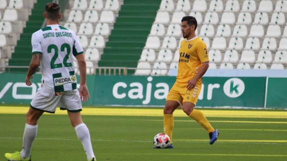 Josete Malagón, en el partido contra el Córdoba