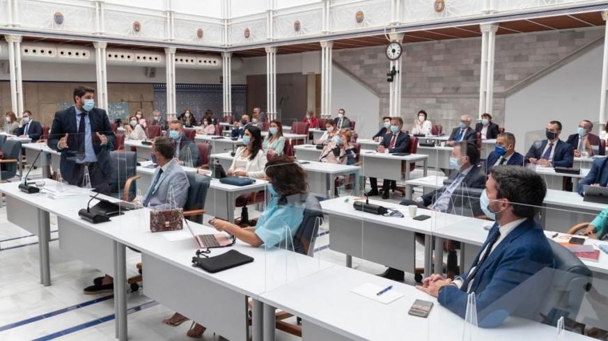 Sesión plenaria de la Asamblea Regional. Comunidad.