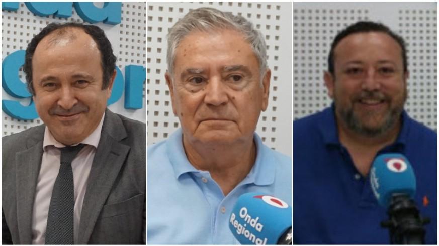 Javier Adán, Enrique Nieto y Juan Antonio de Heras