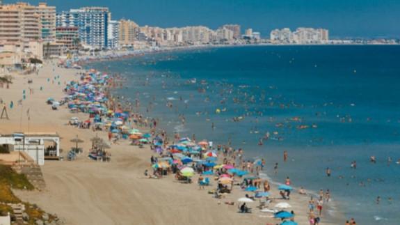 Imagen de la playa de La Manga. CARM