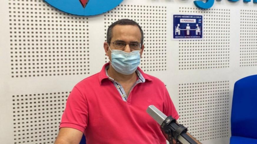 Antonio Guirao en los estudios de ORM