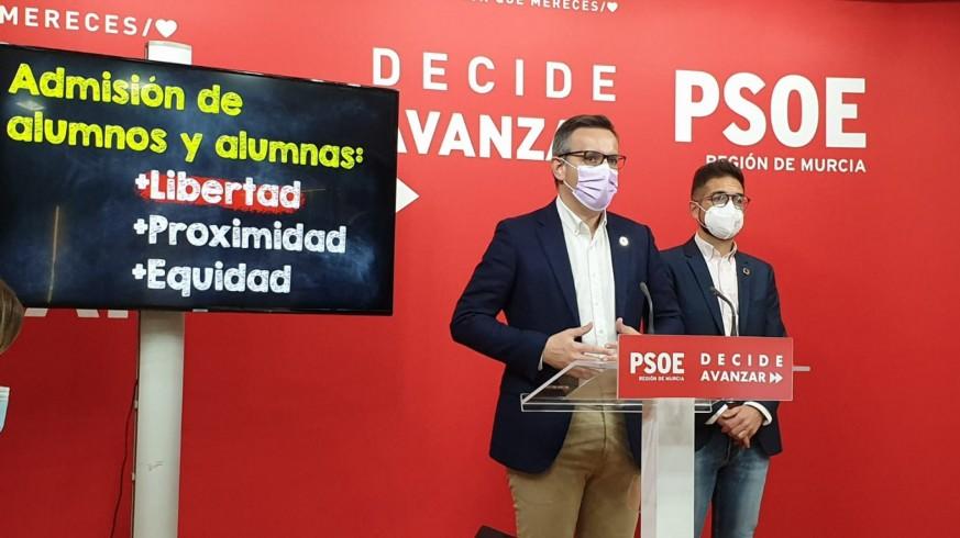 Diego Conesa y Antonio Espín en rueda de prensa. ORM