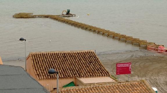 Construcción de uno de los balnearios. Foto Elena Lledó