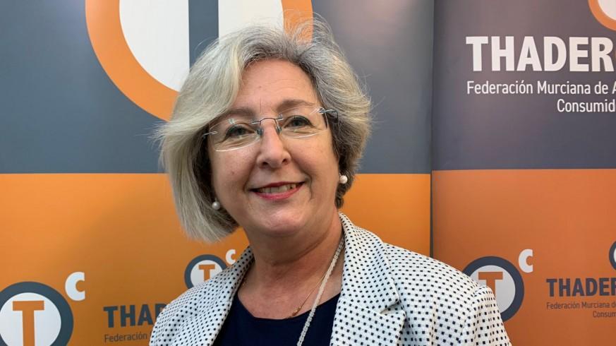 Juana Pérez, presidenta de la Federación Thaderconsumo