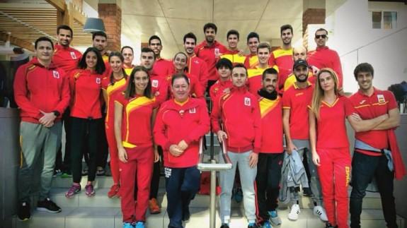 Atletas murcianos con la selección española (foto: @amezcua_balboa)