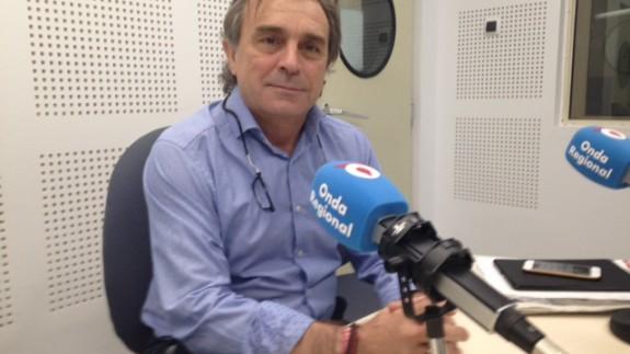 José Enrique Gil, en los estudios de ORM