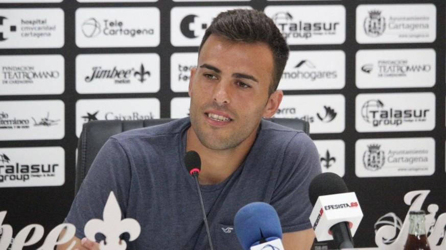 Carlos David durante la rueda de prensa. Foto: FC Cartagena