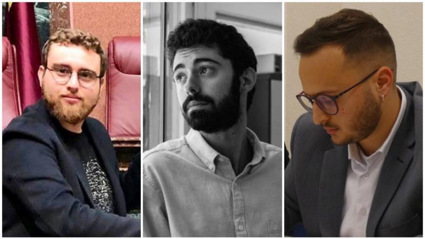 José Miguel Rojo, Luis Romero y Salvador Moreno