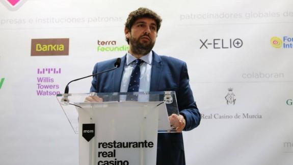 López Miras durante su intervención en el Foro Nueva Murcia