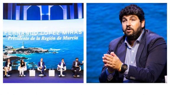 López Miras apuesta por Casado para la solución del problema del agua en la Región