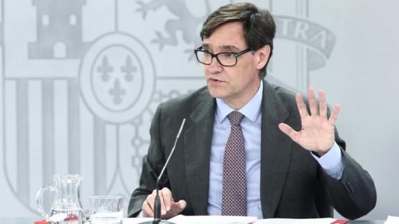 El ministro de Sanidad, Salvador Illa, en una comparecencia en el Ministerio. Foto: Europa Press