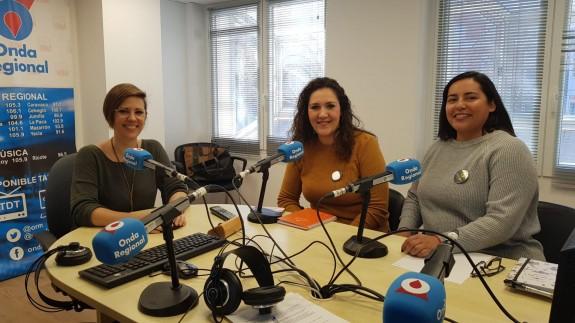 Cintia Segura, Laura García y Bibiana Grajales