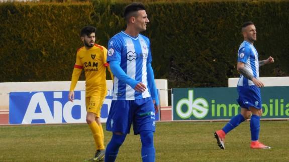 Diego Gregori, en el partido ante el UCAM. Foto: FC Jumilla