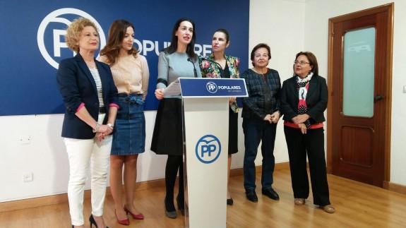 Rueda de prensa ofrecida esta mañana en el PP de Cartagena