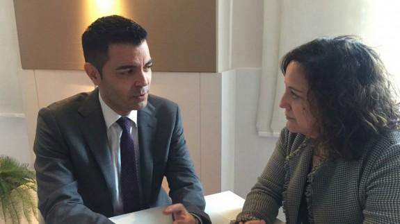 Marcos Ros junto a Iratxe García, presidenta de los socialistas en el Parlamento Europeo