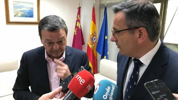 Albarracín y Conesa en la Delegación (foto: ORM)