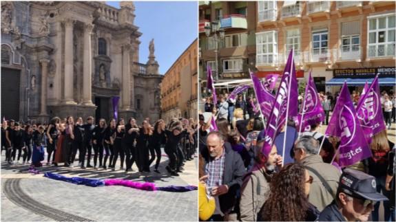 Actos en Murcia y Cartagena en la mañana del 8 de marzo