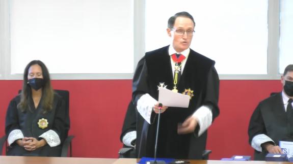 Díaz Manzanera, en su intervención en la apertura del Año Judicial