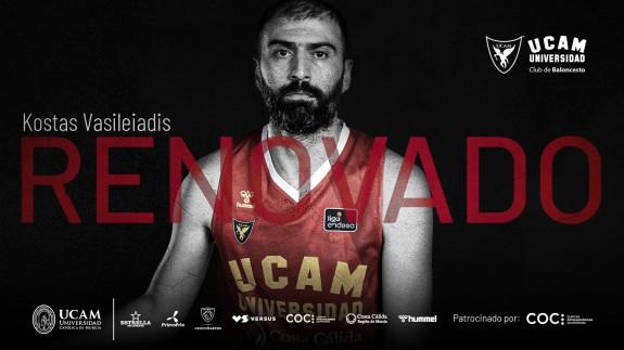 Kostas Vasileiadis continúa en el UCAM Murcia CB