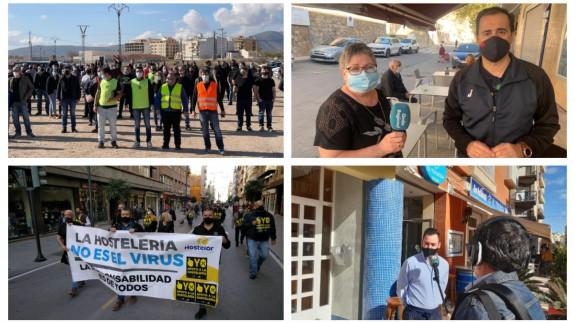 Manifestaciones en Jumilla y Lorca, junto a locales abiertos en Ulea y Águilas