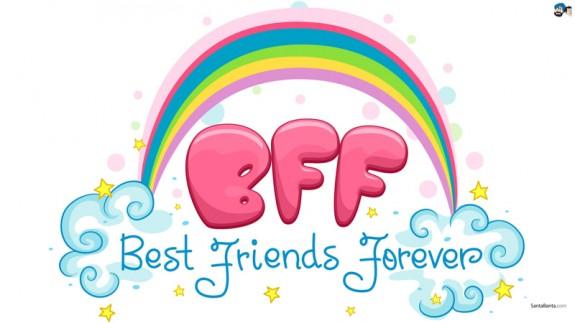Las letras BFF (best friends forever)