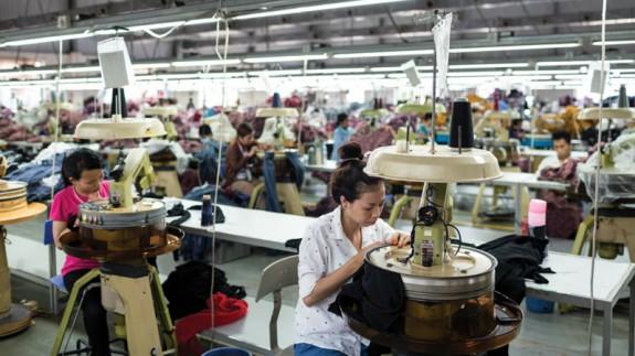 Taller asiático de confección textil