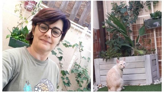 Clara Alarcón y sus plantas