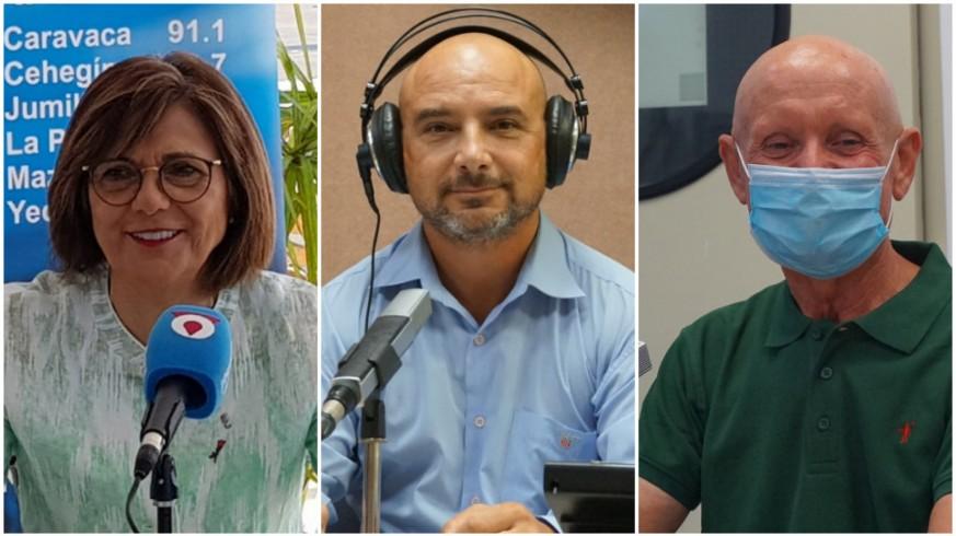 Rosa Peñalver, Daniel Ruiz y Domingo Coronado