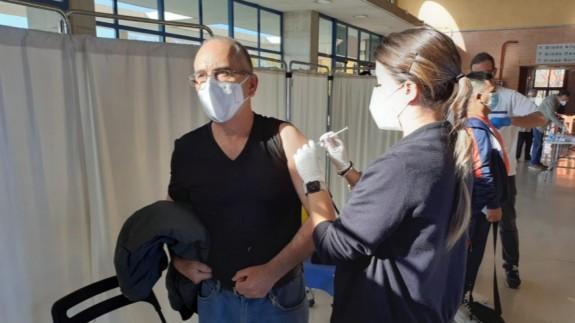 Vacunación en el Palacio de los Deportes de Murcia