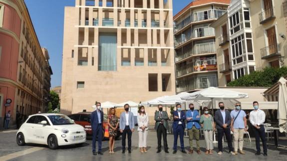 Presentación de la feria 'Movieléctrica' en la plaza Belluga. ORM