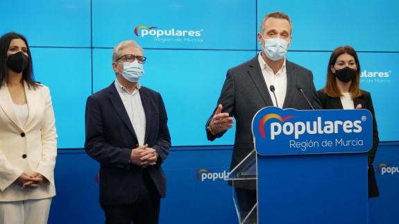 Joaquín Segado, en rueda de prensa. PP