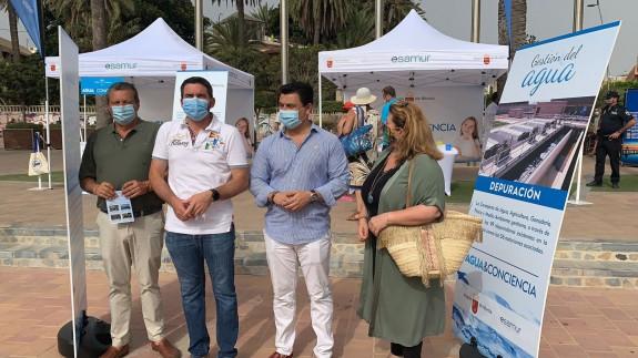 Presentación en San Javier de la campaña 'Agua y conciencia'. Foto: V.M. MORENO