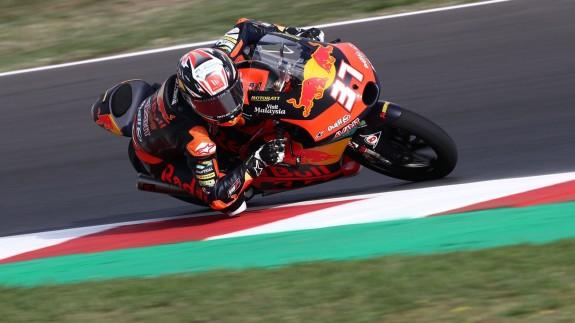 Pedro Acosta, en los entrenamientos del GP de San Marino