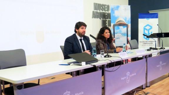 López Miras en las jornadas de transparencia que se celebran este lunes
