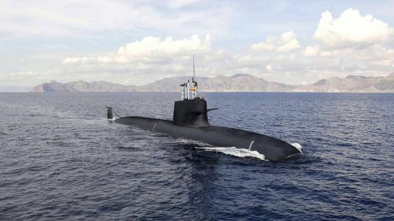 Imagen virtual nuevo submarino S80 plus.